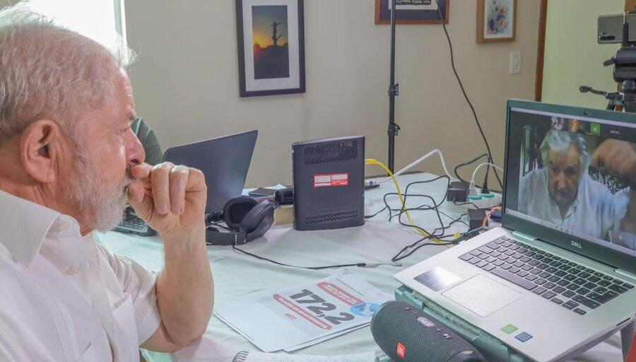"""imagen de Lula se siente con """"mucha fuerza"""" y será candidato a presidente de Brasil, cree Mujica"""