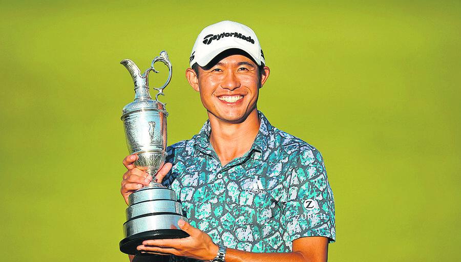 imagen de El estadounidense Collin Morikawa hizo historia al ganar en forma brillante el British Open, el segundo Major de su carrera
